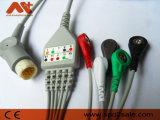 General/cable de una sola pieza de Newtech ECG con los Leadwires