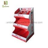 Soporte de visualización de la cartulina acanalada de la encimera para el estante de visualización del chocolate