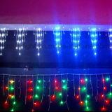 Decoração de Natal de LED Contratante música Icicle Cachoeira de luz acende