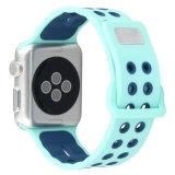 Venda de reloj dual del silicón de los deportes de los colores con el corchete cuadrado de la hebilla para la venda de reloj de Apple