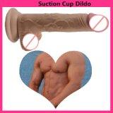 Consoladores Sexo Sexo consolador silicona Pene grande pene realista con ventosa juguetes sexuales de silicona para la mujer.