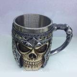 Tazza del lupo del cranio dell'acciaio inossidabile della resina di caffè/di tè/di birra