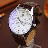 H311 de la moda Unisex reloj de pulsera de cuarzo par ver con la banda de cuero
