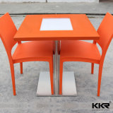 Mobilier moderne en pierre artificielle Food Court table de restaurant