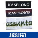Crear la escritura de la etiqueta para requisitos particulares tejida los pantalones vaqueros, las escrituras de la etiqueta tejidas poliester