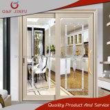 Подгонянная дверь панели алюминиевого двойника раздвижной двери профиля стеклянная