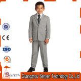工場価格のカスタム灰色の子供スーツ3部分の