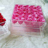 로즈 포장 상자를 위한 우수한 아크릴 꽃 상자