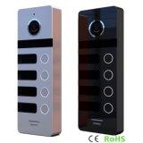 4つのボタンのホームセキュリティーの相互通信方式のメモリビデオドアの電話インターホン