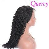Nouvelle arrivée 100% de l'homme vierge réel cheveux vague profonde Full Lace Wig