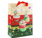 Bolsa de papel de encargo reutilizable de Kraft para la Navidad