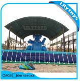 浮遊水おもちゃが付いている高品質PVC金属フレームのプール