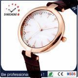 /PU-Muster-Leder-Form-Dame-Armbanduhr des Legierungs-Kasten-materielle echten Leders