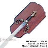 Espadas medievais da decoração das espadas de Swods da película 105cm HK81004c