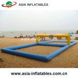 膨脹可能な水バレーボールの運動場、空気はスポーツのためのバレーボールフィールドを密封した