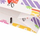 Sacs de cadeau de papier de logo estampés par coutume d'emballage de cadeau d'anniversaire de ventes en gros