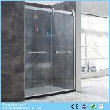 Meilleure vente de l'écran de douche en verre trempé en acier inoxydable