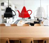 Lâmpada de suspensão de decoração creativa moderna do pendente do copo de chá da iluminação da loja do café do café