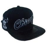 Custom PU ajustable Gorra de cuero bordado de algodón de la moda Cap
