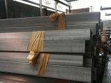 Pipe rectangulaire balayée de grand dos de fini de solides solubles 316