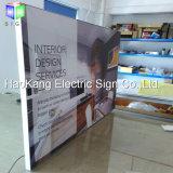 Signes en aluminium de menu de bâti de bureau du tissu DEL pour le cadre léger d'étalage d'affiche
