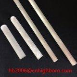 Tube plat protégé par fusible opaque de quartz d'extrémité
