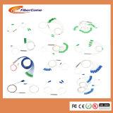 Mini tipo divisor óptico del módulo del tubo de acero del PLC de la fibra de 1X8 LC/APC con el conector de Sc/APC