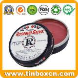 Kosmetik, die KastenRosebudsalve-Metallblechdose verpacken