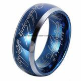 Opgepoetste de Juwelen van Shineme en Ring van het Wolfram van de Laser de Blauwe (TSTBL15)