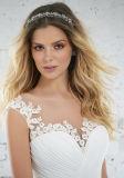 Appliqued Brautkleid-Chiffon- Strand-Garten-Hochzeits-Kleider Z1041