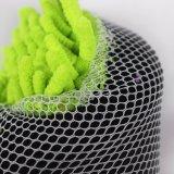 Toalla de pulido del coche de Microfiber con la esponja con el acoplamiento (chenille)