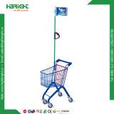 Le plastique de supermarché badine le chariot de jouet d'achats