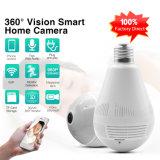 Panorámica de 360 grados cámara CCTV WiFi Bombilla de la cámara de la seguridad del hogar