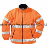 Uja010poliéster Oxford PVC/PU Non-Breathable/PU respiráveis cubra pano reflexivo Parka Casaco Worksuit Raincoat
