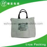 Sacchetto di Tote stampato promozionale di acquisto della tela di canapa del cotone