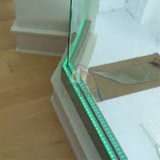 Rete fissa di vetro commerciale dell'acciaio dell'inferriata della scala LED della costruzione