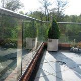 Foshan cubierta exterior de la fábrica de vidrio sin cerco barandilla barandilla de escalera de sistemas