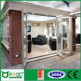 Portello di piegatura di alluminio della rottura termica con doppio vetro