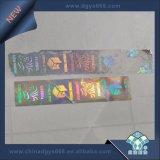 Stampa diContraffazione dell'autoadesivo di colore dell'ologramma d'argento del codice a barre