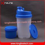 La nuova bottiglia di plastica dell'agitatore della proteina di disegno 700ml con lo scompartimento sulla parte inferiore ed il Pillbox in coperchio, BPA liberano (KL-7001)