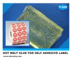 Fabricante Chinses sensible a la presión de adhesivo termofusible para etiquetas permanentes
