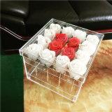 Fábrica chinesa claro Perspex Luxury 16 Descrição Embalagem flor rosa