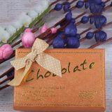 El empaquetado del chocolate modifica la caja de embalaje del regalo para requisitos particulares del rectángulo de papel
