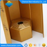 Imprimé personnalisé unique boîte en carton de papier à tête hexagonale