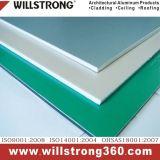 Revêtement en aluminium PVDF de gris argenté enduit pour la construction extérieure