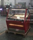 Showcase italiano de Gelato da fábrica de Guangdong/congelador comercial do caso de indicador do gelado