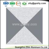 Moderner Entwurfs-Metallbeschaffenheit bereifte Decke