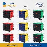 El plegable de mudanza y rectángulo portable de la carretilla de las compras del equipaje