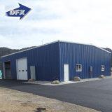 産業プレハブかモジュラー金属のプレハブの工場または倉庫または鋼鉄建物