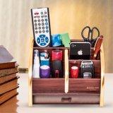 나무로 되는 펜 홀더 유명한 카드 및 원격 제어 저장 상자